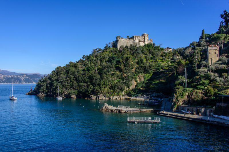 Brown Castle Portofino Italy Sea Travel