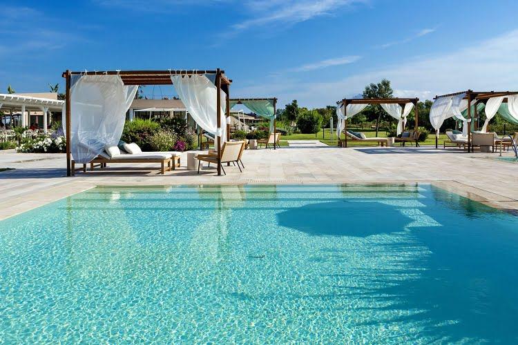 Resort Luxury Pool Sardinia Italy Travel
