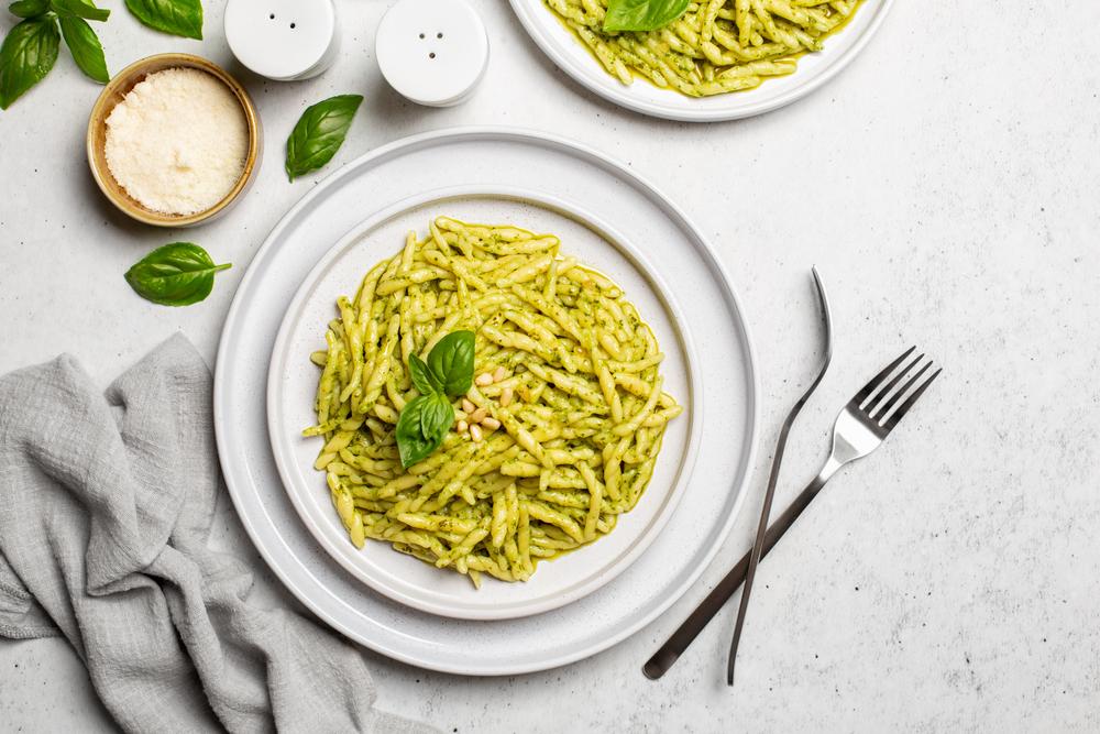Italian Disch Trofie Pesto Genoa