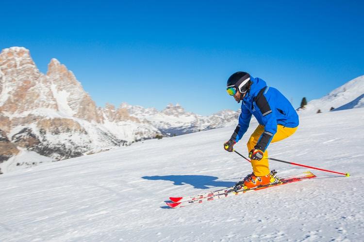 Ski Mountain Snow Sport Dolomites Cortina Italy