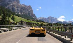 Sports Car Alps Dolomites Italy