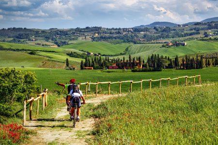 Italian Travel Tuscany Bike Hills