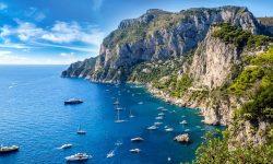 Capri Italy Travel Panoramic View Sea