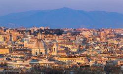 Gianicolo View Rome Travel Italy