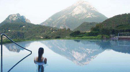 Pool Relax Mountains Lake Luxury