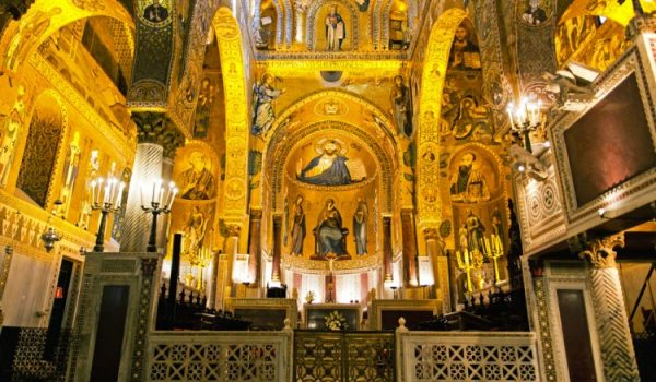 Interior,Of,The,Palatine,Chapel,Of,Palermo,,Sicily