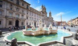 Navona Square Rome Travel Italy Fountain