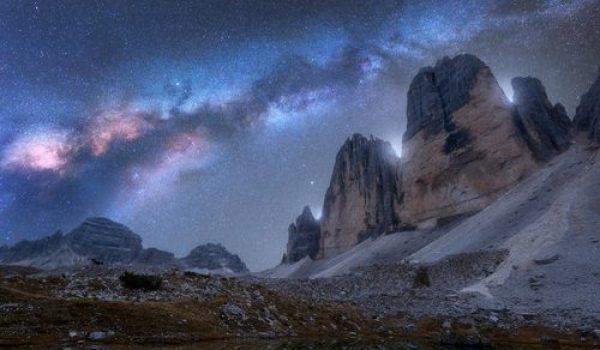 Sky Dolomites Milky Way Travel Italy