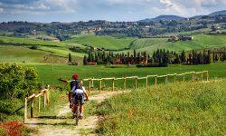 Tuscany Bike Tour Hills Vineyards