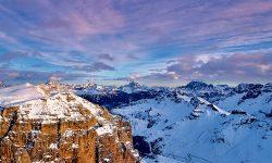 Winter Snow Ski Dolomites Italy