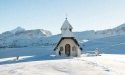 Alta Badia Snow Slopes Ski Church Travel Italy