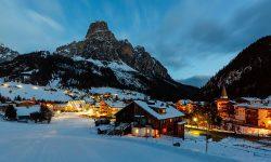 Alta Badia Snow Night Slopes Travel Italy Dolomites