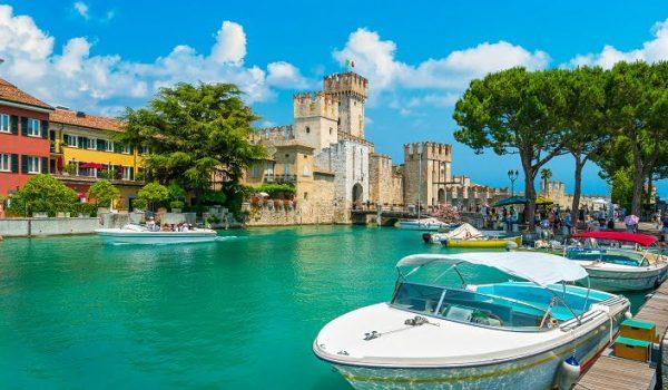 Sirmione Lake Garda Italy Travel Boat