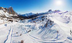 Ski Slopes Lagazuoi Alta Badia Dolomites Italy TRavel